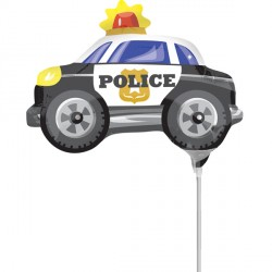 POLICE CAR MINI SHAPE A30 INFLATED WITH CUP & STICK