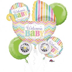 BABY BRIGHTS 5 BALLOON BOUQUET P75 PKT (3CT)