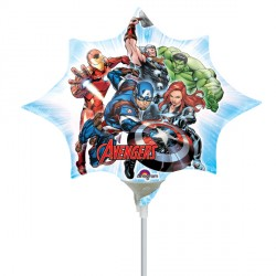 AVENGERS MINI SHAPE A30 INFLATED WITH CUP & STICK