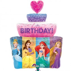 DISNEY PRINCESS BIRTHDAY CAKE SHAPE P38 PKT