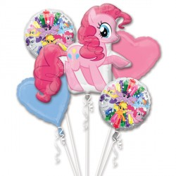 MY LITTLE PONY PINKIE PIE 5 BALLOON BOUQUET P75 PKT (3CT)