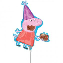 PEPPA PIG PARTY MINI SHAPE A30 INFLATED WITH CUP & STICK
