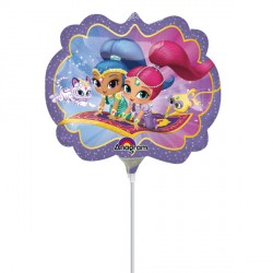 SHIMMER & SHINE MINI SHAPE A30 INFLATED WITH CUP & STICK