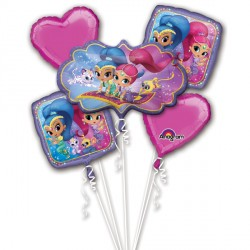 SHIMMER & SHINE 5 BALLOON BOUQUET P75 PKT (3CT)