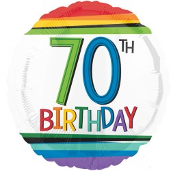 RAINBOW BIRTHDAY 70 STANDARD S40 PKT