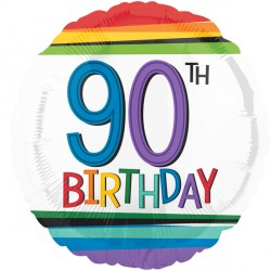 RAINBOW BIRTHDAY 90 STANDARD S40 PKT