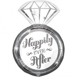 "HAPPILY EVER AFTER RING SHAPE P35 PKT (18"" x 27"")"
