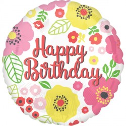 FLORAL FANCY HAPPY BIRTHDAY STANDARD S40 PKT