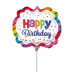 RAINBOW BIRTHDAY MARQUEE MINI SHAPE A30 FLAT