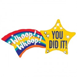 "YOU DID IT SHOOTING STAR SHAPE P35 PKT (27"" x 22"")"