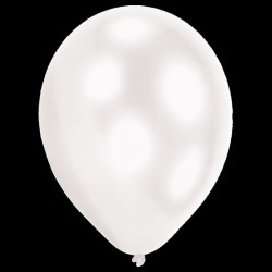 "BALLOOMINATE WHITE L.E.D BALLOONS 11"" (5CT X 12 PACKS)"