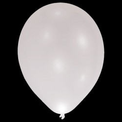 "BALLOOMINATE SILVER  L.E.D BALLOONS 11"" (5CT X 12 PACKS)"
