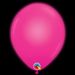 "Q-LITE MAGENTA L.E.D BALLOONS 11"" (5CT X 6 PACKS)"