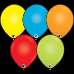 "Q-LITE ASSORTED COLOURS L.E.D BALLOONS 11"" (5CT X 6 PACKS)"