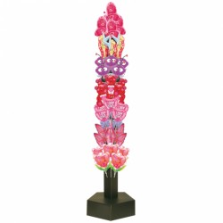 AIR-FILLED CORRUGATED TOWER DISPLAY BLACK (HOLDS 72 INFLATED BALLOONS)