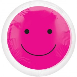 "PINK SMILEY FACE 18"" SALE"