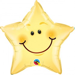 "SMILEY FACE STAR 20"" PKT"