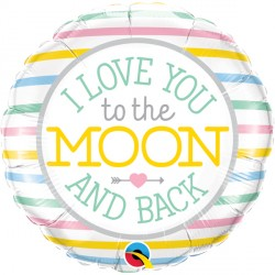 "I LOVE YOU TO THE MOON 18"" PKT"