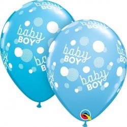 "BABY BOY BLUE DOTS-A-ROUND 11"" PALE BLUE & ROBIN'S EGG (25CT) YGX"