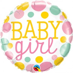 "BABY GIRL DOTS 18"" SALE"
