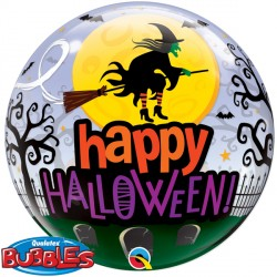 "HALLOWEEN WITCH HAUNTING 22"" SINGLE BUBBLE"