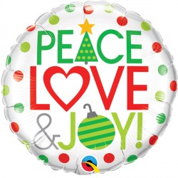 "PEACE LOVE & JOY 18"" PKT IF"