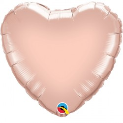 "ROSE GOLD HEART 36"" JUMBO FLAT Q"