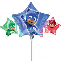 PJ MASKS MINI SHAPE A30 INFLATED WITH CUP & STICK