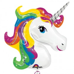 RAINBOW UNICORN SHAPE P35 PKT