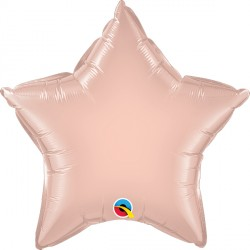 "ROSE GOLD STAR 20"" FLAT Q"
