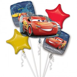 CARS 3 LIGHTNING MCQUEEN 5 BALLOON BOUQUET P75 PKT (3CT)