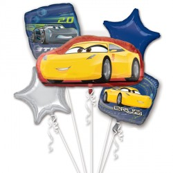 CARS 3 CRUZ & JACKSON 5 BALLOON BOUQUET P75 PKT (3CT)