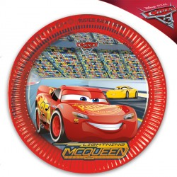 DISNEY CARS 3 PAPER PLATES (8CT X 25 PACKS)