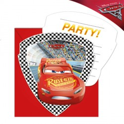 DISNEY CARS 3 INVITATIONS & ENVELOPES (6CT X 24 PACKS)
