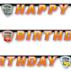 DISNEY CARS BIRTHDAY BANNER (1CT X 12 PACKS)