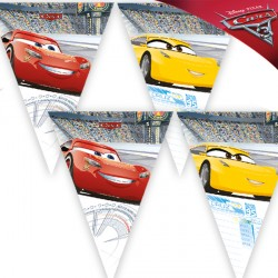 DISNEY CARS 3 TRIANGLE FLAG BANNER (1CT X 24 PACKS)