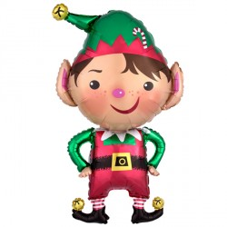 "JOLLY CHRISTMAS ELF SHAPE P35 PKT (20"" x 37"")"