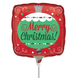 "MERRY CHRISTMAS ORNAMENT 9"" A15 FLAT"