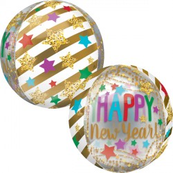 GOLD STREAMERS & STARS NEW YEAR ORBZ G20 PKT