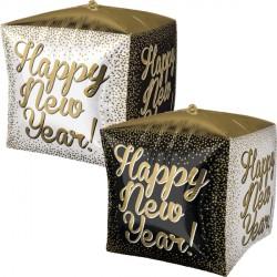"WHITE, GOLD & BLACK NEW YEAR CUBEZ G20 PKT (15"" x 15"")"