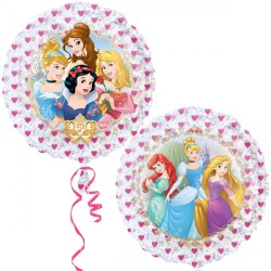 "DISNEY PRINCESS 21"" HOLOGRAPHIC STREET TREAT SHAPE FLAT"