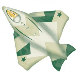 FIGHTER JET STREET TREAT SHAPE FLAT