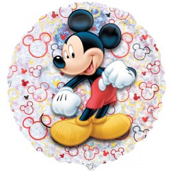 "MICKEY MOUSE 21"" HOLOGRAPHIC STREET TREAT SHAPE FLAT (10CT)"