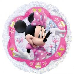 "MINNIE MOUSE 21"" HOLOGRAPHIC STREET TREAT SHAPE FLAT"