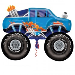 MONSTER TRUCK BLUE STREET TREAT SHAPE FLAT (10CT)