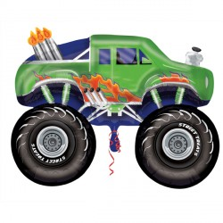 "MONSTER TRUCK GREEN STREET TREAT SHAPE FLAT (24"" x 24"") (10CT)"