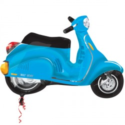 "MOTOR SCOOTER BLUE STREET TREAT SHAPE FLAT (24"" x 24"") (10CT)"