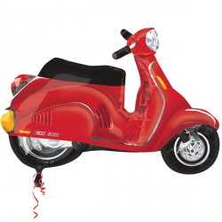 "MOTOR SCOOTER RED STREET TREAT SHAPE FLAT (24"" x 24"") (10CT)"