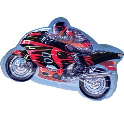 "MOTORCYCLE STREET TREAT SHAPE FLAT (27"" x 16"") (10CT)"