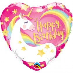 "MAGICAL UNICORN BIRTHDAY 18"" PKT"